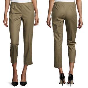 Lafayette 148 Green Cropped Bleecker Pants